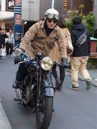 クラシックバイク系ファッション