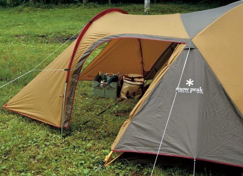 2人用テントはキャノピーがあると便利