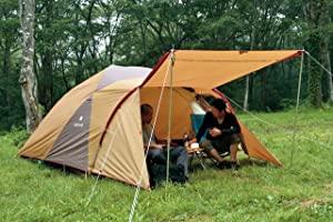 雨のキャンプは前室の広いテントが快適