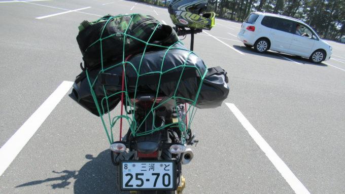 バイクの積載悪い例